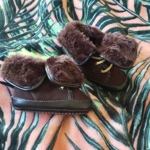 COLE HAAN Brown Fur Boots Size 3
